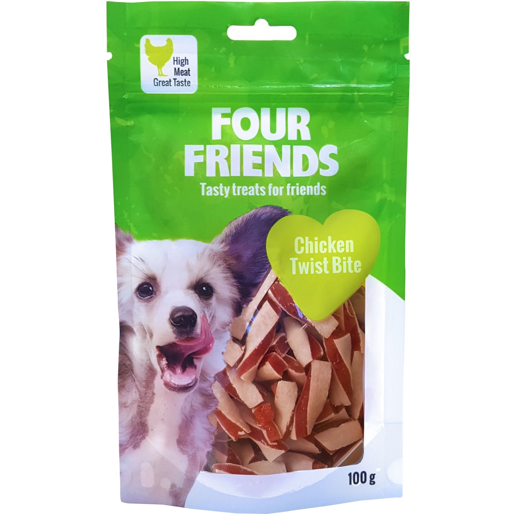Koiranherkku  Chicken Twist Bite 100 g FourFriends