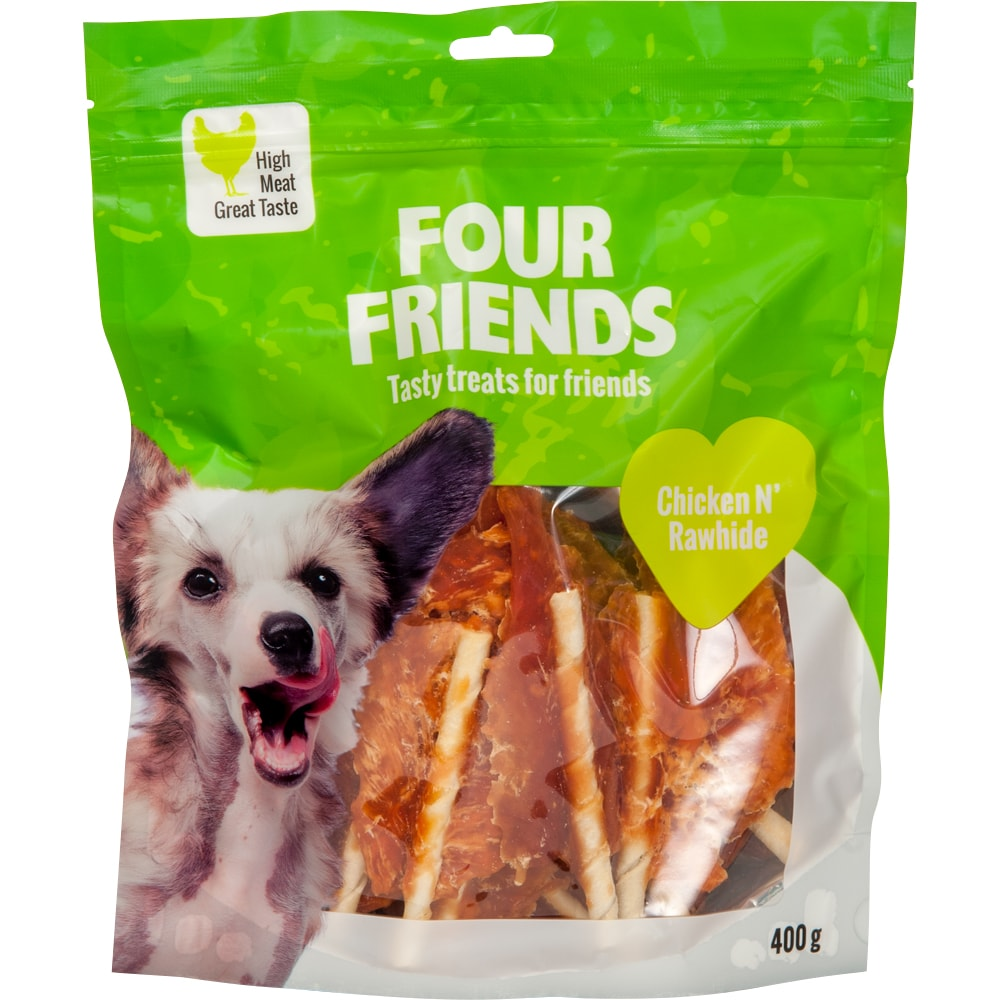Koiranherkku  Chicken N´Rawhide 400 g FourFriends