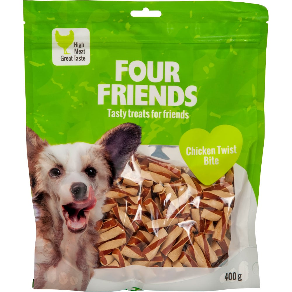 Koiranherkku  Chicken Twist Bite 400 g FourFriends