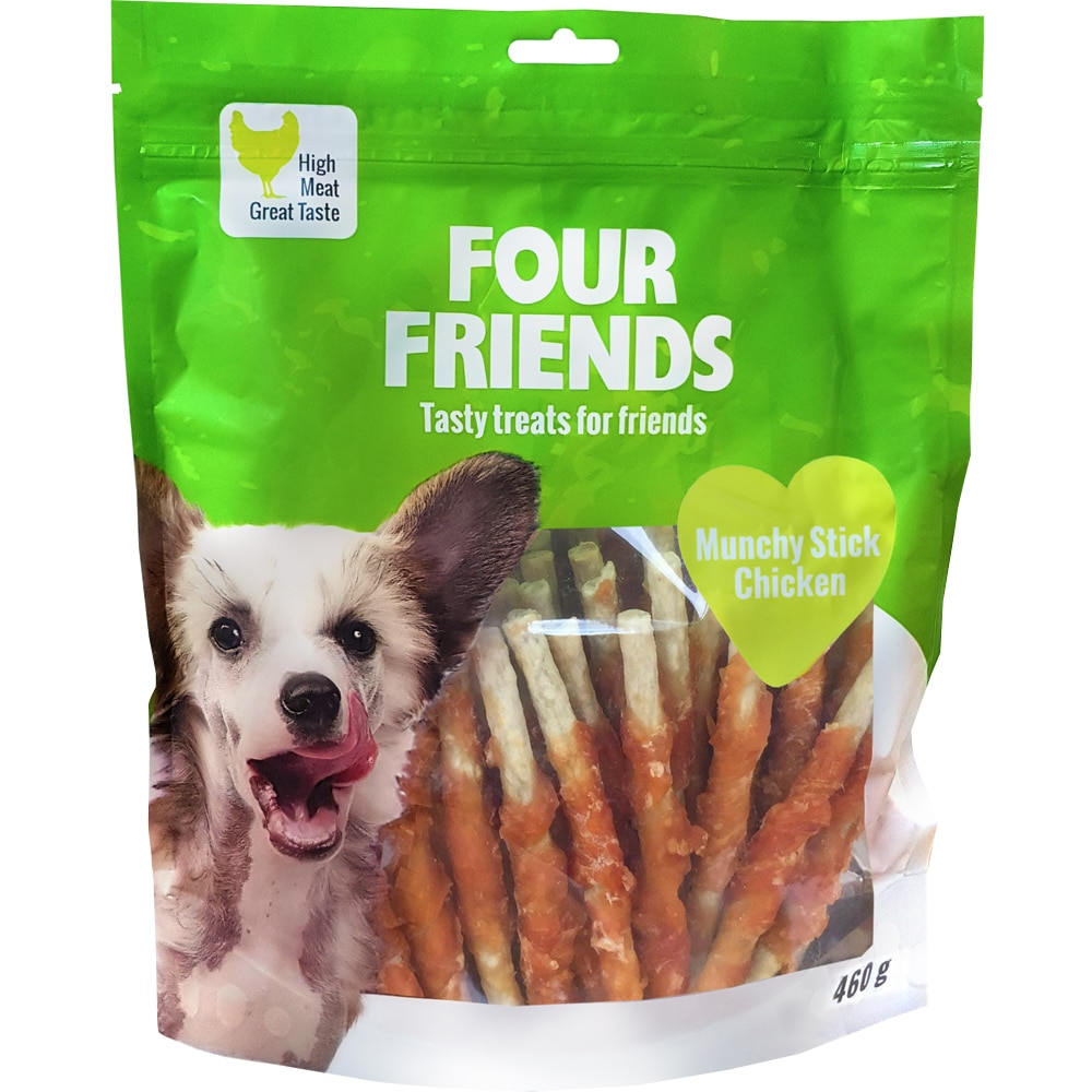 Koiranpuruluu  Munchy Stick Chicken 460g FourFriends