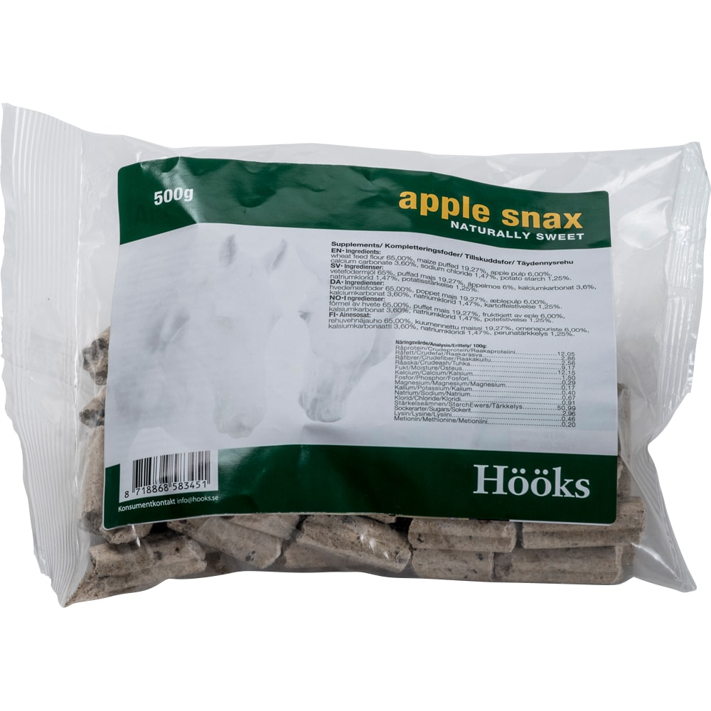 Hevosnamut  Apple snax natural 500 g Hööks