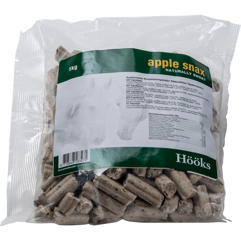 Hevosnamut  Apple snax natural 1 kg Hööks